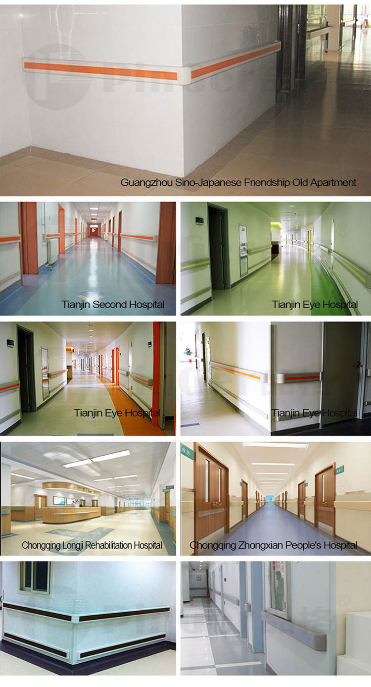 Hospital Promotional Wall Mounted Vinyl Handrails